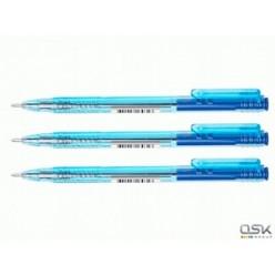 Ручка авт масл Стамм , 0.7мм, корпус тонир/голубой, клип, СИНИЙ