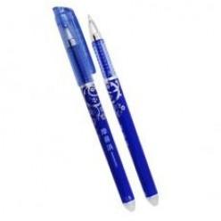 Ручка гел MC BASIR, 0.5мм, исчезающие термочернила, синий корпус, колп/клип, ластик, СИНИЙ