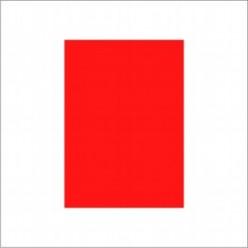 Бумага самокл. А4 красная Флюор 1лист матовая