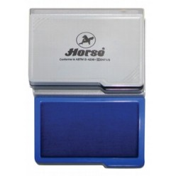 Штемпельная подушка синяя  7*11см пластиковый корпус, Horse №2