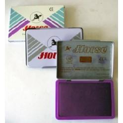 Штемпельная подушка фиолетовая 70*110мм металличсеский корпус №2