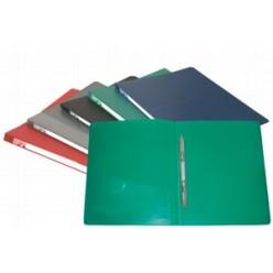 Папка пластиковая скоросшиватель Бюрократ + карман А4 0,7мм, серая (PZ07Pgrey)
