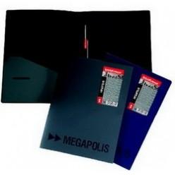 Папка пластиковая скоросшиватель EK Megapolis + карман А4 синяя