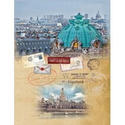 Тетрадь А5, 120л, клетка, кольца, обл 7БЦ, офсет, сменный блок, Панорама Венеции