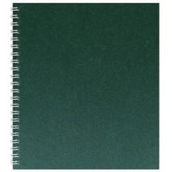 Тетрадь А5, 048л, клетка, гребень, обл дизайн.картон, офсет,Темно-Зеленый