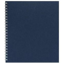Тетрадь А5, 048л, клетка, гребень, обл дизайн.картон, офсет,Темно-Синий
