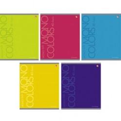 Тетрадь А5, 040л, линия, скрепка, обл картон, офсет, Яркие цвета