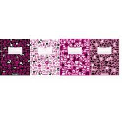 Тетрадь А5, 048л, клетка, гребень, обл картон, офсет, Яркие оттенки дня (4вида)