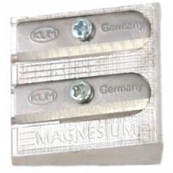 Точилка KUM, двойная, без накопителя, металлическая, клиновидная