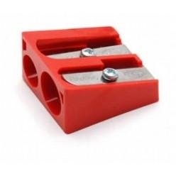Точилка KUM, двойная, без накопителя, пластиковая, клиновидная, ассорти