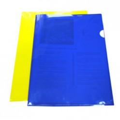 Уголок А4 1отд. 0,18мм, Бюрократ непрозрачный, глянцевый, желтый (E310N/1yel)